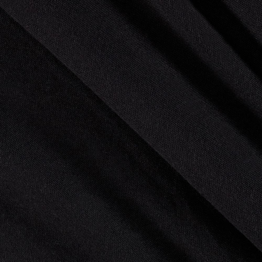 Tissue Stretch Cotton Jersey Knit Black