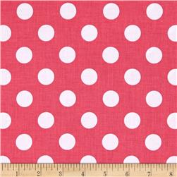 Riley Blake Basics Medium Dot Raspberry Fabric