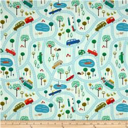 Riley Blake Road Trip Flannel Scenic Blue