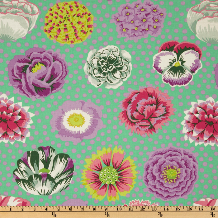 Kaffe Fassett Big Blooms Green Fabric