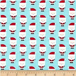 Riley Blake Santa Express Santa Claus Blue