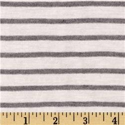 Yarn Dyed Jersey Knit Mini Stripe Grey/White