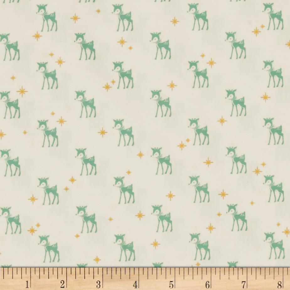 Riley Blake Cozy Christmas Reindeer White