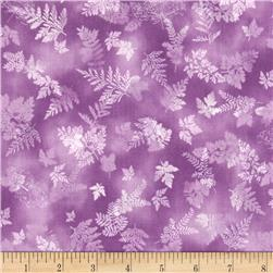 Robert Kaufman Tuscan Wildflower Leaf Purple