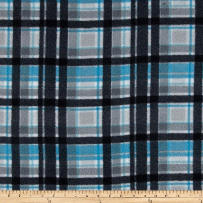 Fleece Plaids Black/Blue