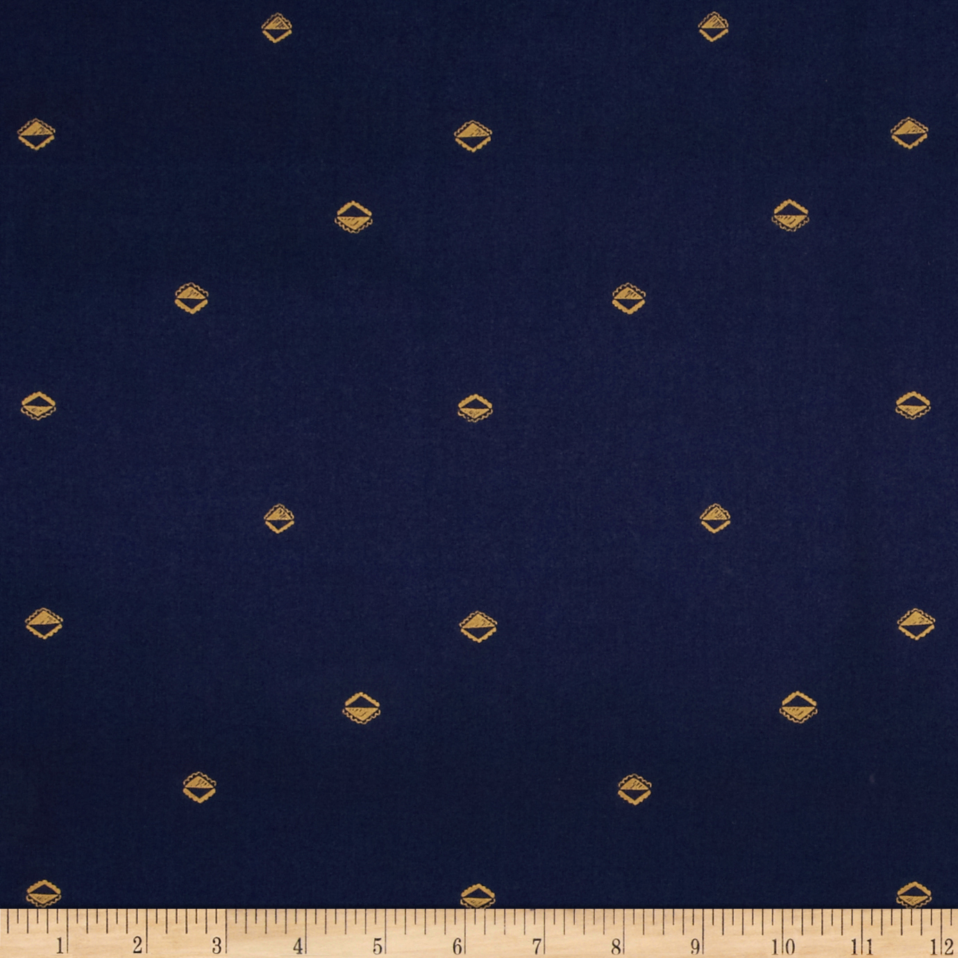 Cotton + Steel Mesa Lawn Sunrise Navy Fabric by Cotton & Steel in USA