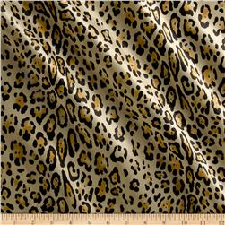 Charmeuse Satin Baby Leopard Gold Fabric