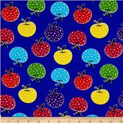 Corduroy Print Colorful Apple Royal Blue