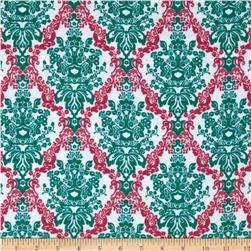 Kaufman 21 Wale Cool Cords Damask White Fabric