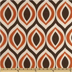 Home Accents Arabesque Flocked Autumn Rust Fabric