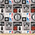 NBA Cotton Broadcloth Brooklyn Nets Multi