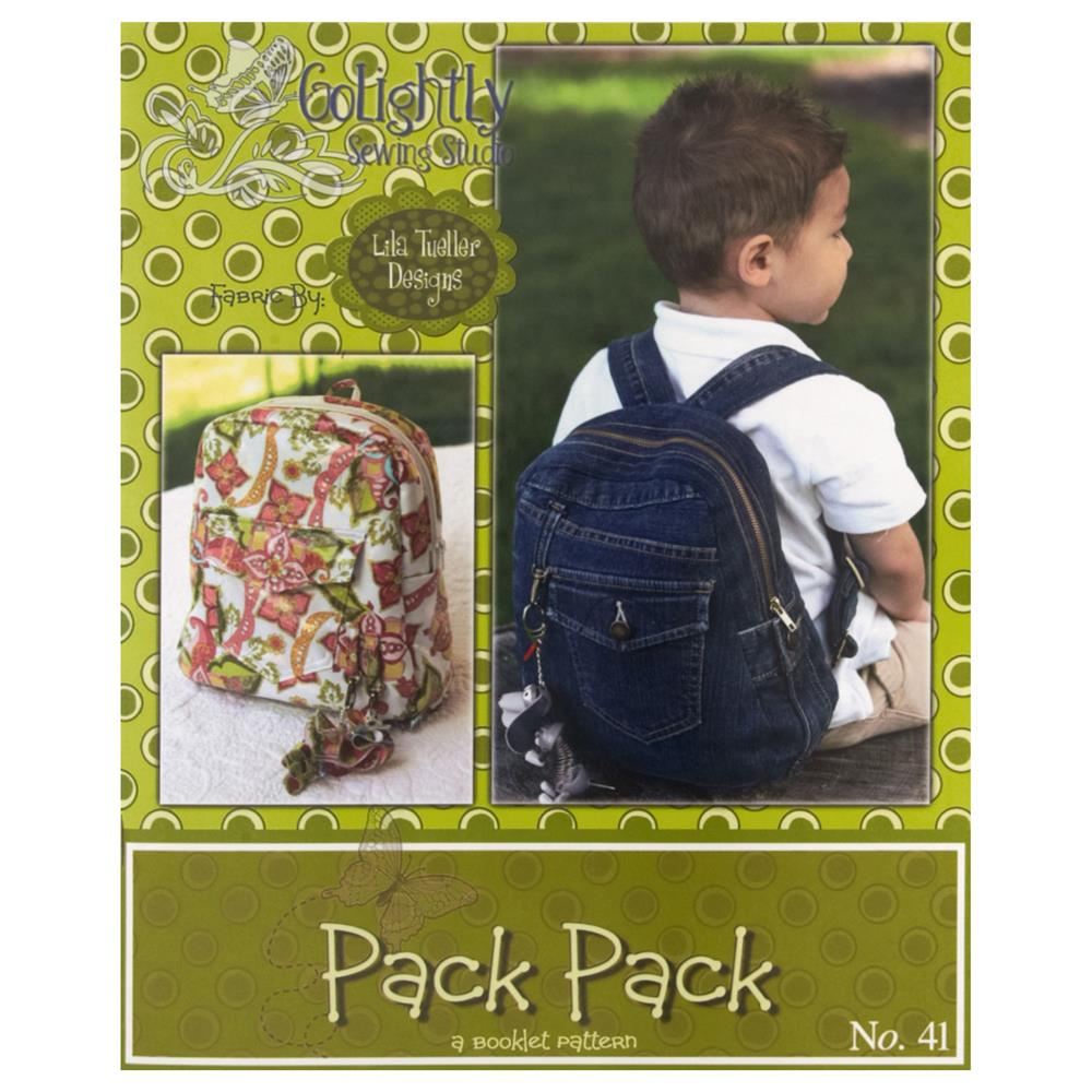 "Lila Tueller ""Pack Pack"" Backpack Pattern"