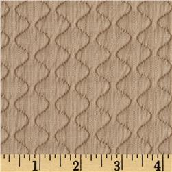 Quilted Double Knit Camel