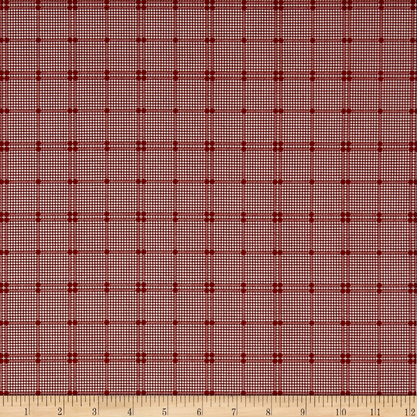 Penny Rose Rustic Romance Rustic Plaid Red Fabric