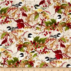 A Colorful Season Birds & Leaves Cream