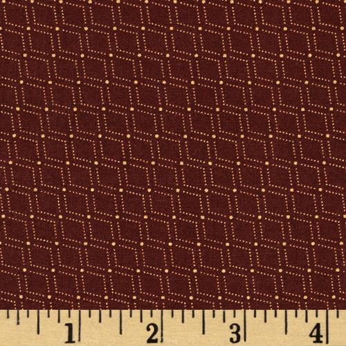 Moda Hawthorn Ridge Zig Zag Barn Red