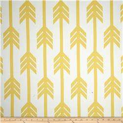 RCA Arrows Blackout Drapery Fabric Lemon