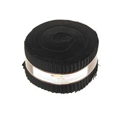 "Kona Cotton Black 2.5"" Roll Ups"