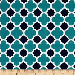 Riley Blake Quatrefoil Teal/Navy
