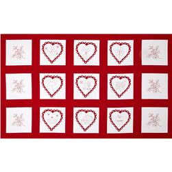 A Year of Love Month Panel Red