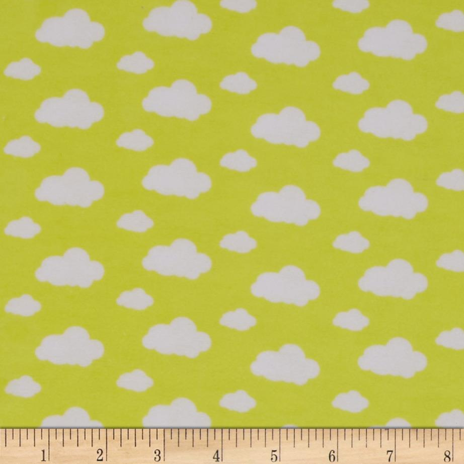 Dreamland Flannel Dream Clouds Sunshine Yellow