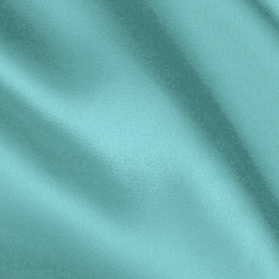 Stretch Charmeuse Satin Aqua Fabric