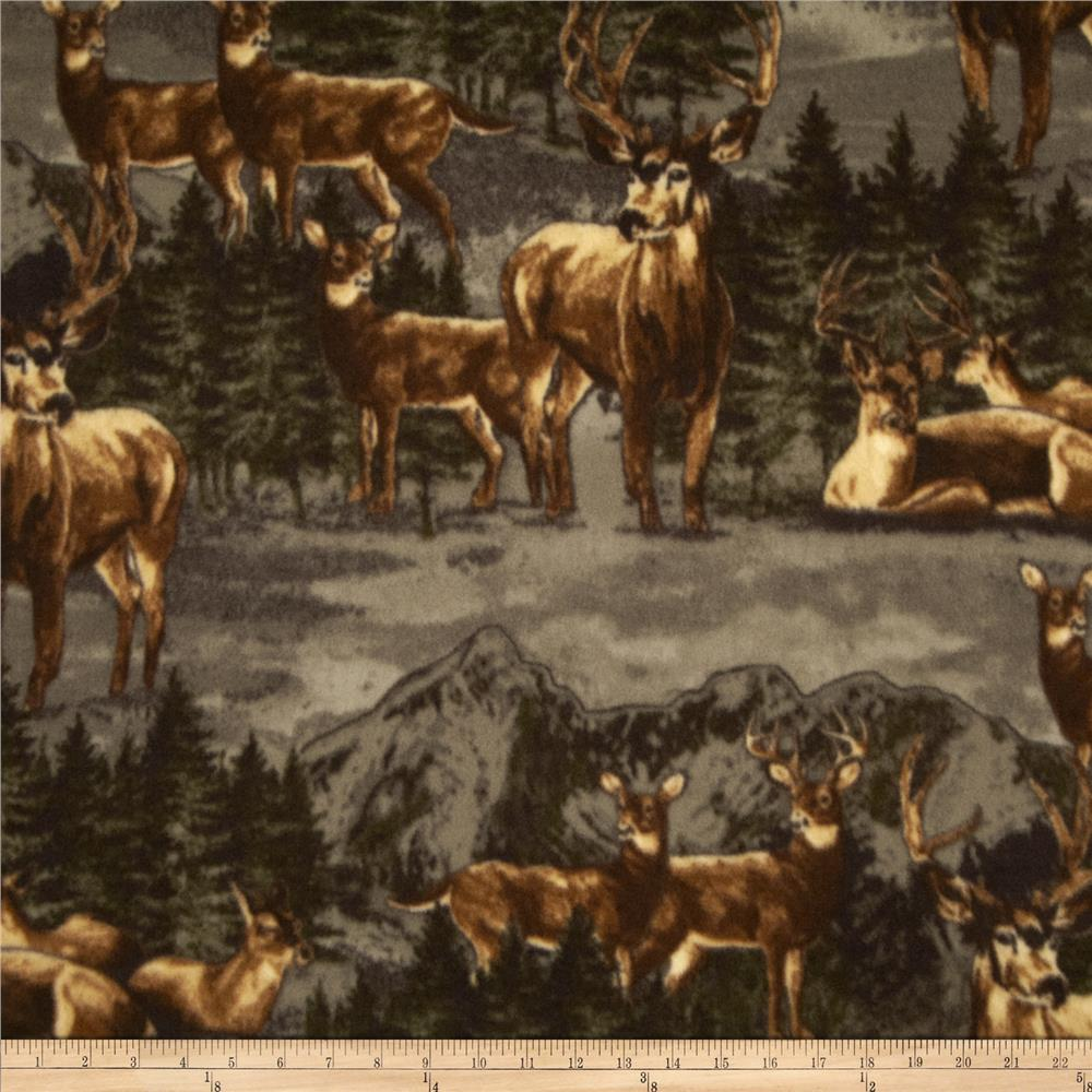 WinterFleece Mountain Deer Multi