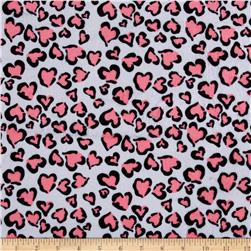 Minky Heart of Beast Neon Pink