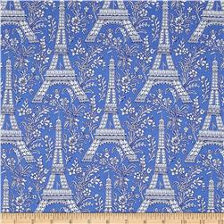 Michael Miller Petite Paris Eiffel Tower Blue