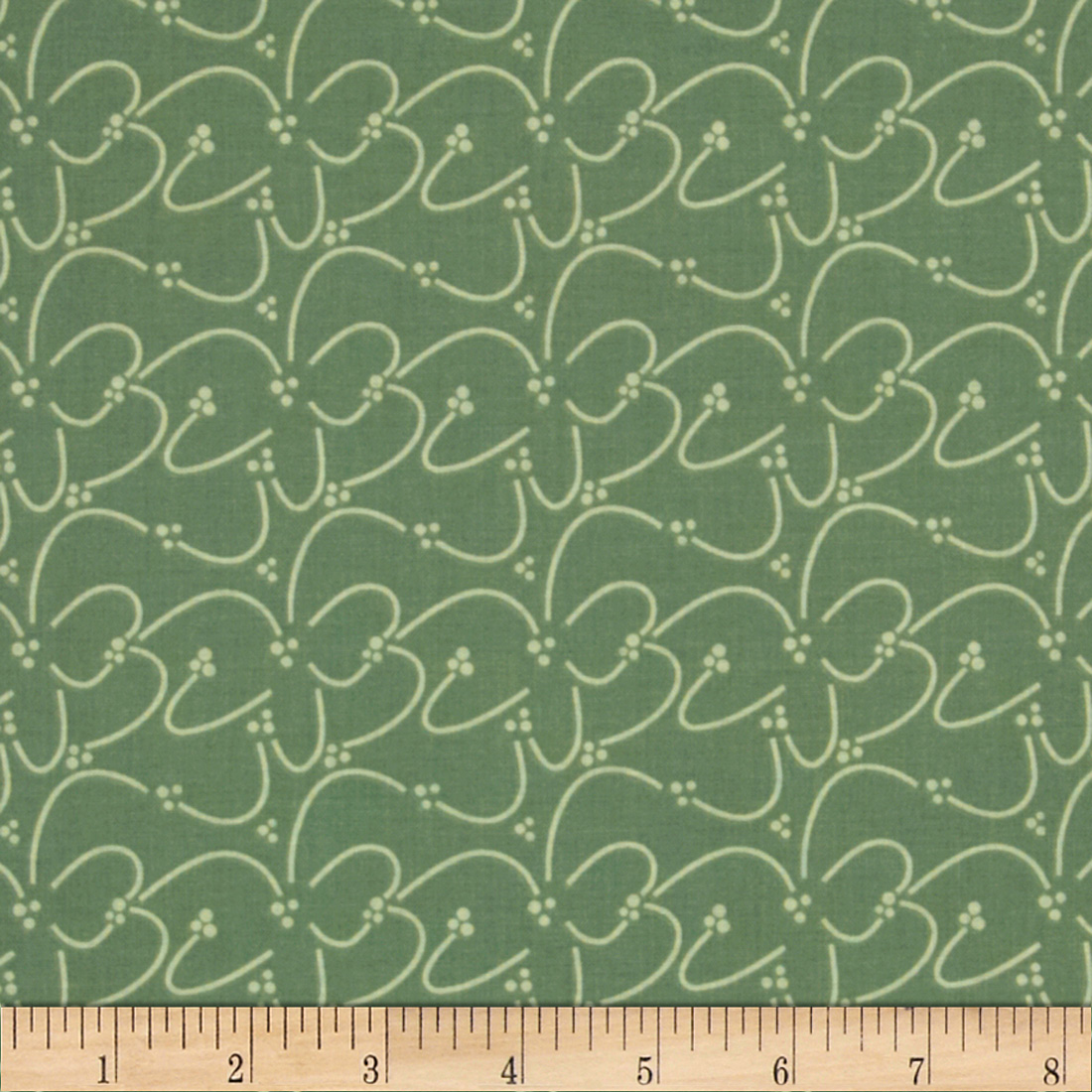 Riley Blake Valencia Squiggle Green Fabric