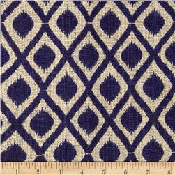 Printed Burlap Mini Ikat Royal