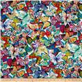 Mystic Meadow Digital Print Packed Butterflies Opal