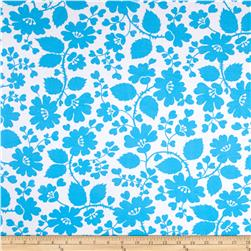 Floral Fun Shadow Activewear Turquoise/White