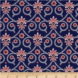 Anna Griffin The Madison Collection Bombette Navy Fabric