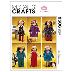"McCall's 18"" Doll Clothes and Dog Pattern M2506 Size OSZ"