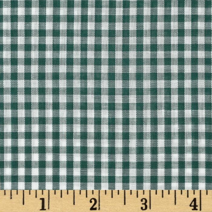 Gingham 1/8 In. Checks Galore Green