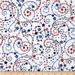 American Anthem Star Swirl White