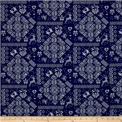Moda Nordic Stitches Knit Sampler Marine