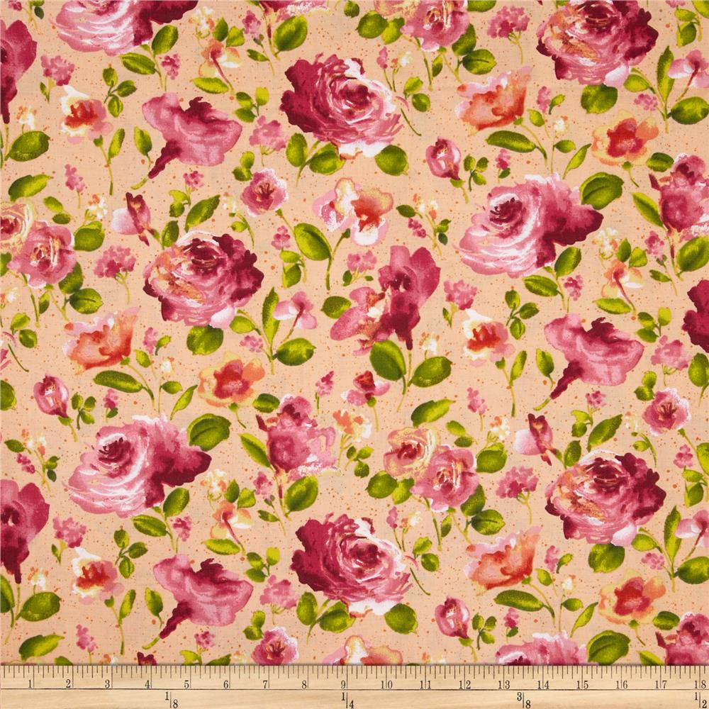 Ambrosia Toss Floral Peach