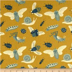 Birch Organic Acorn Trail Canvas Bugs Gold