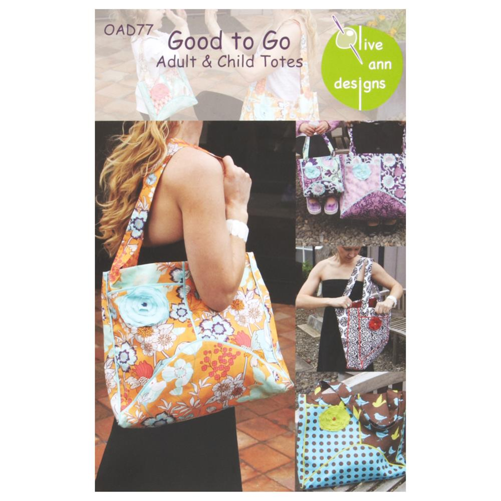 Olive Ann Designs Good to Go Adult & Child Tote Pattern