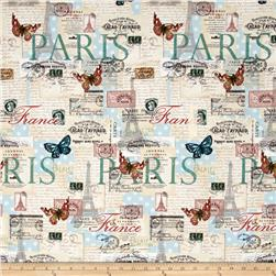 Paris Spring Expo Letters from Paris Cream/Multi