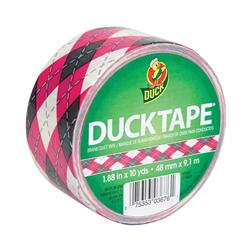 "Patterned Duck Tape 1.88"" x 10yd-Pink Argyle"