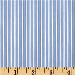Career Shirting Stripes Light Blue/White