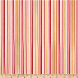 Riley Blake Fine & Dandy Flannel Stripe Pink