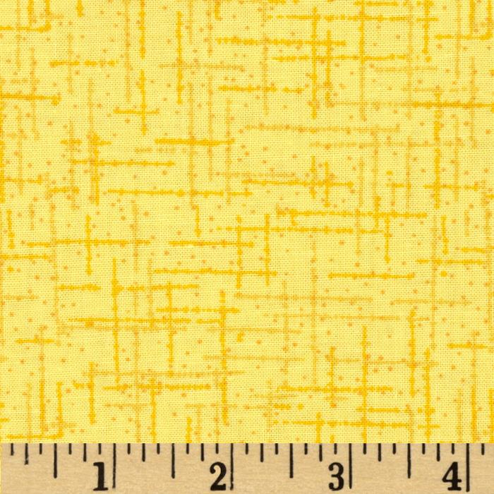 "108"" Wide Matrix Quilt Back Yellow"