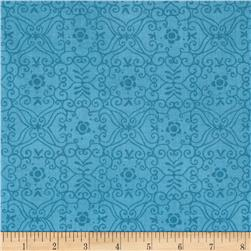 Moda Bloomin' Fresh Garden Lattice Sky Blue