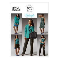 Butterick Misses' /Women's Jacket, Top, Dress, Skirt and Pants Pattern B5965 Size B50
