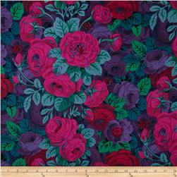 Kaffe Fassett Collective Rambling Rose Magenta Fabric