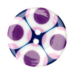 Fashion Button 1-3/8'' Confetti Circle Purple